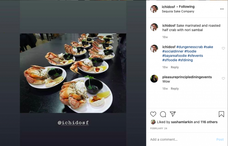 Eatwith Social Media Example